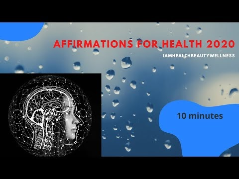 HEALTH & ENERGY Affirmations for creating a positive health mindset. Repetitive. Manifest WITH LOA