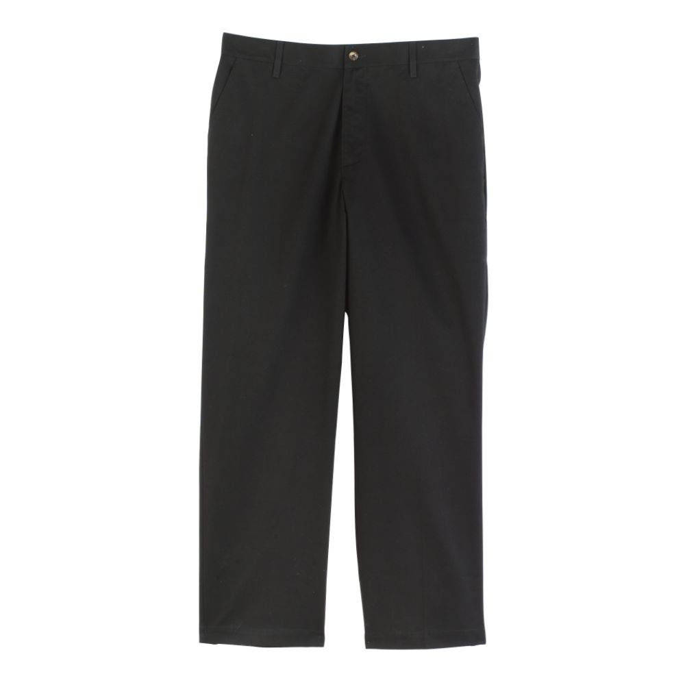 basic editions men's wrinkle resistant flat front pants