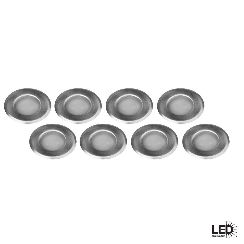 Hampton Bay 12v Low Voltage Led 8 Piece Stainless Steel Deck Light