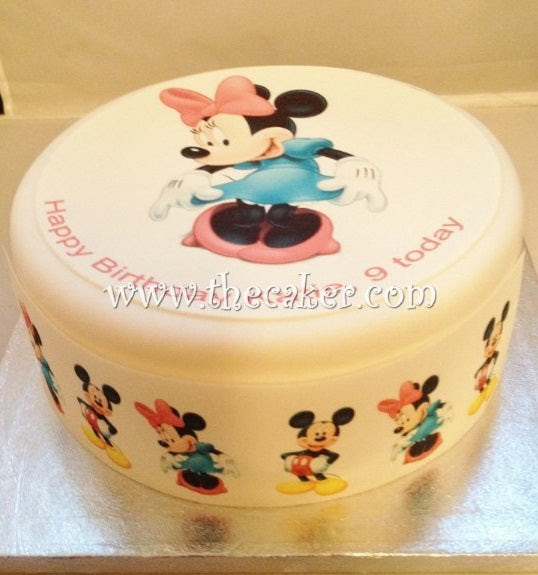 Minnie Mouse Edible Icing Cake Topper 04 The Caker Online