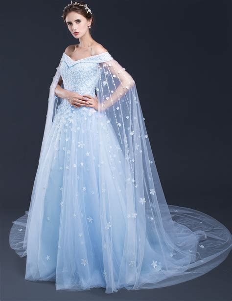 Blue Wedding Dresses,Long Bridal Gowns,Bridal Gowns With