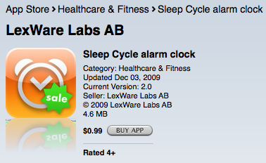 【iPhone App】Sleep Cycle alarm clock睡眠記錄鬧鈴