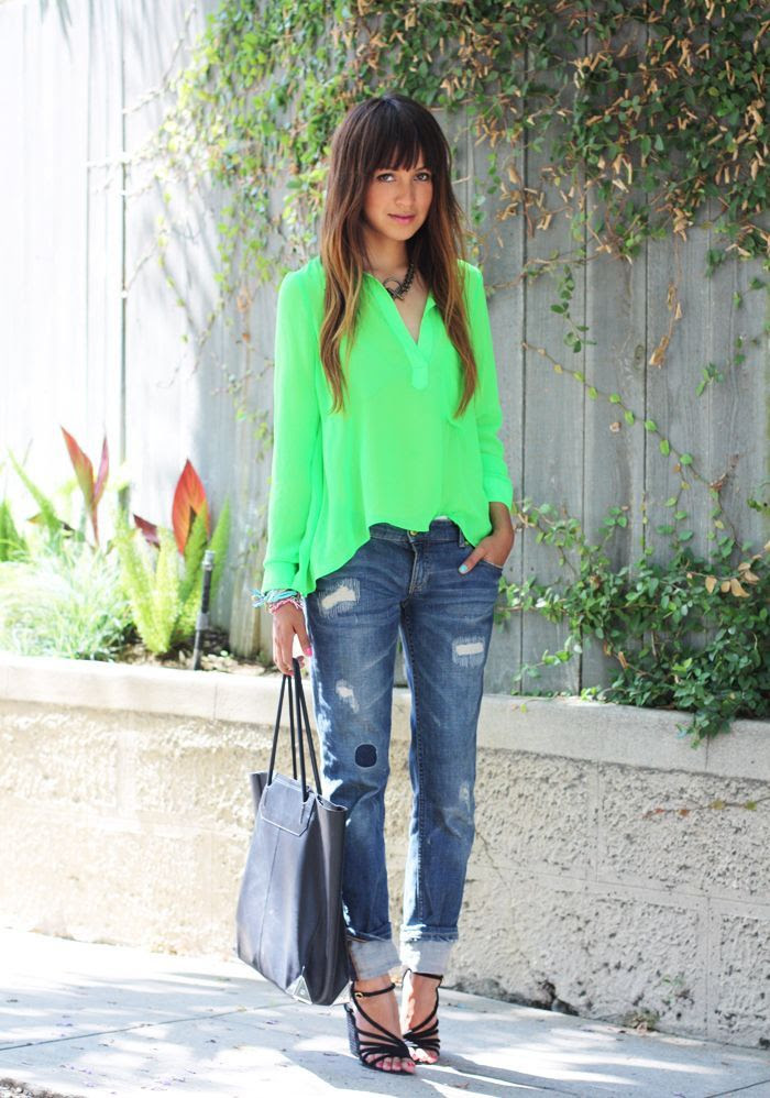 Neon Green | Fashion Inspiration Blog. #laylagrayce #green #fashion