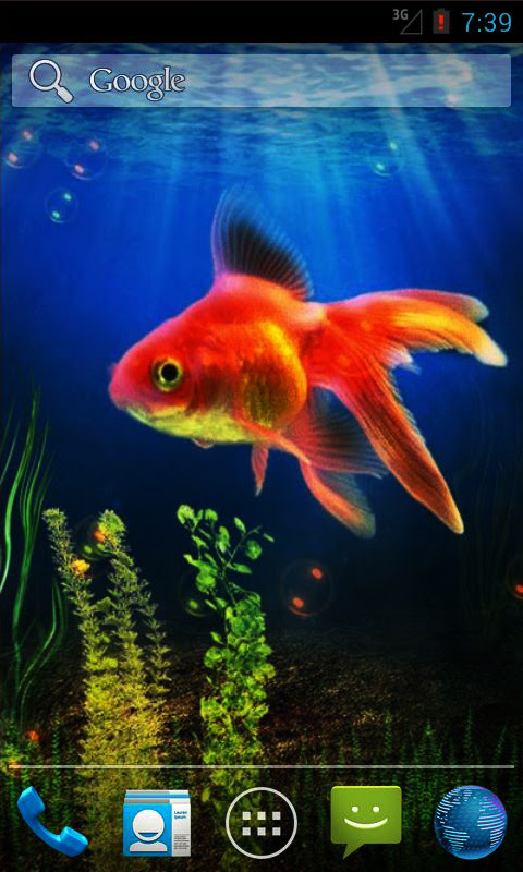 Goldfish Live Wallpaper Android App - Free APK by andapplique