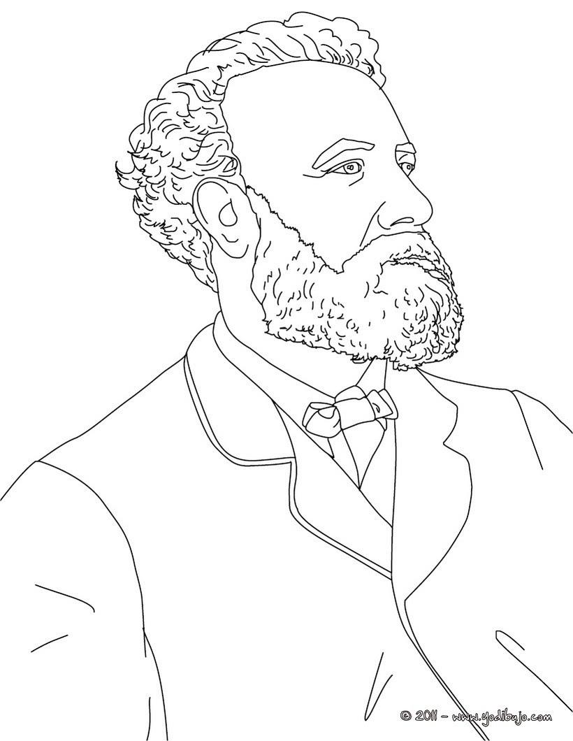 Jules Vernela Astronomia Y La Literatura Dibujo Para Colorear