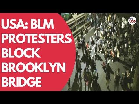 USA: BLM protesters block Brooklyn Bridge, demanding justice for Breonna...