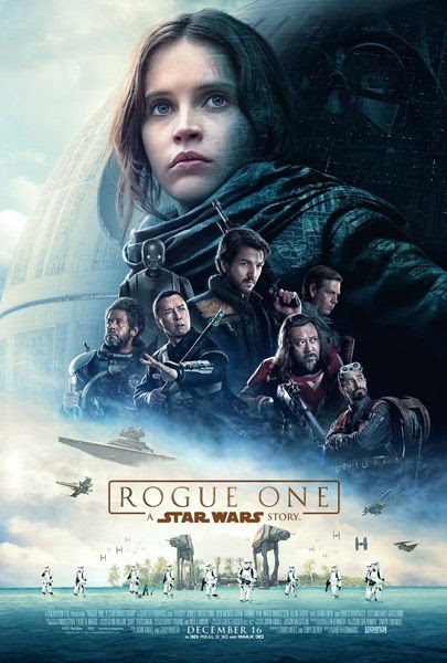 The final theatrical poster for ROGUE ONE: A STAR WARS STORY.
