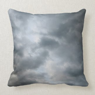 Storm Clouds Breaking Throw Pillow