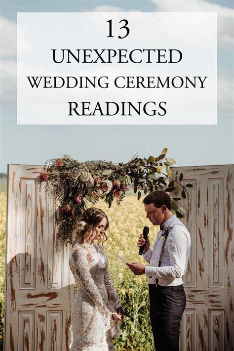 13 Unexpected Wedding Ceremony Readings   Junebug Weddings