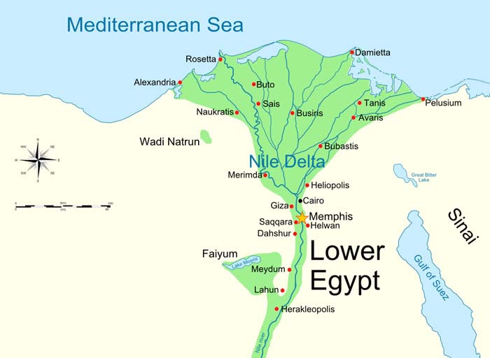 Map of Lower Egypt