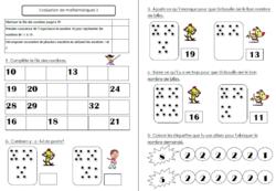 Evaluations de maths CP pour la première période