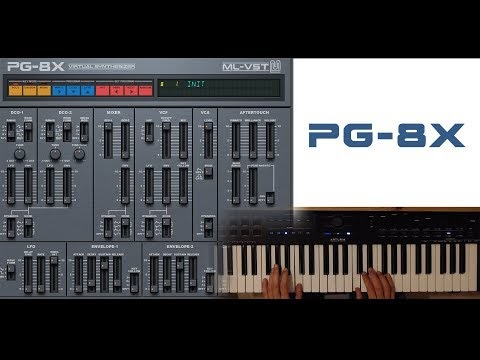 Free Roland JX-8P synth emulator - PG8X VST plugin