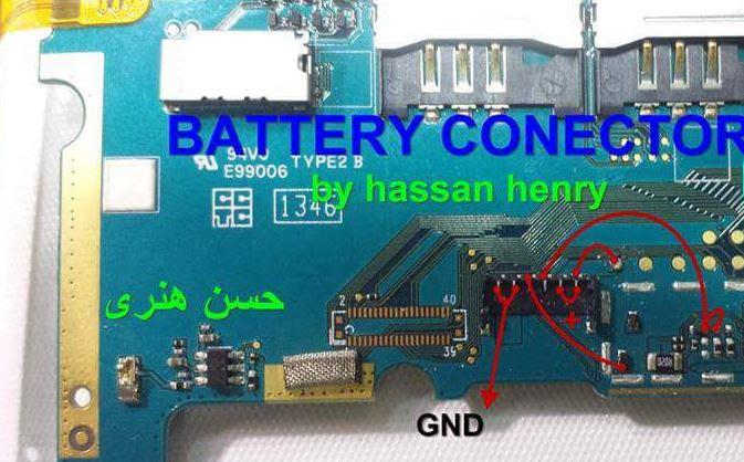 Lenovo A3000 Battery Connector Terminal Jumper Ways