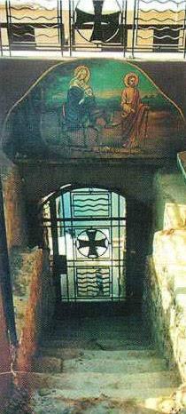 Os antigos degraus de pedra - Virgem Maria da igreja, Maadi