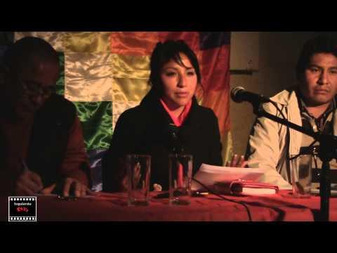 EVA LIZ MORALES REUNION DE ORGANIZACIONES SINDICALES Y ESTUDIANTILES EN CHILE
