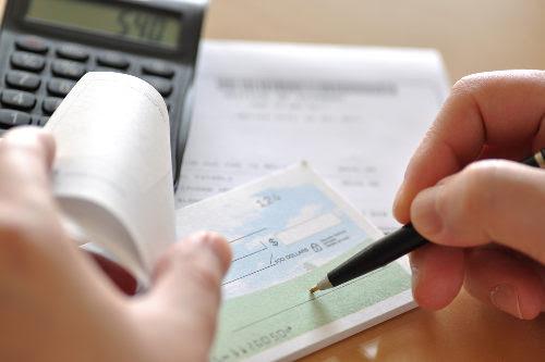 Writing paycheck