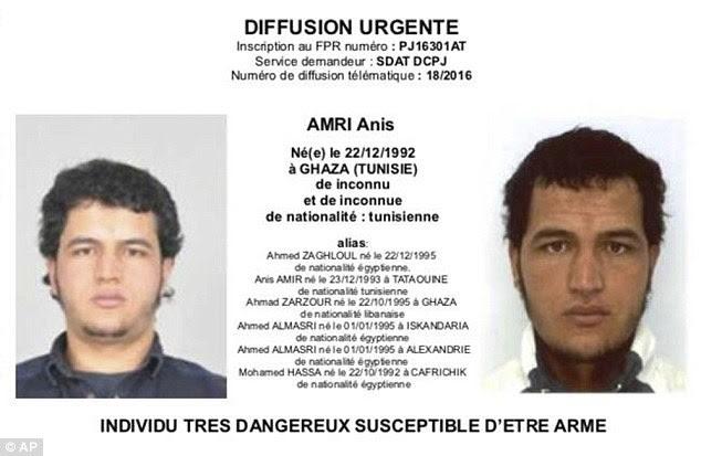 Το διεθνές ένταλμα σύλληψης για τον 24χρονο Τυνήσιο