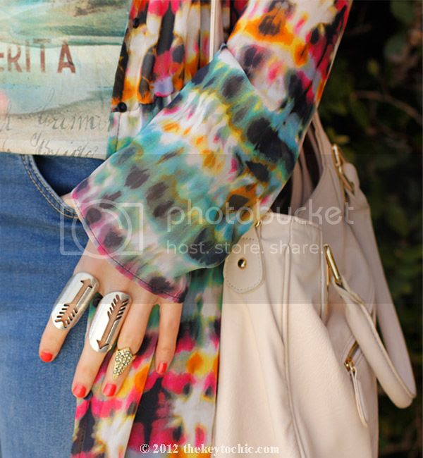 Zara tie dye dress, Topshop ombre jeans, Aldo Maune wedges, Los Angeles fashion blogger, southern California style
