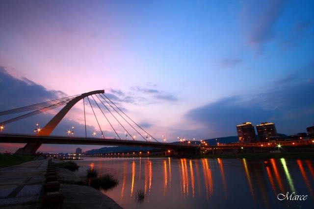 大直橋夕陽