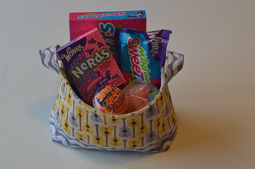 Goodie {fabric} basket by Poppyprint