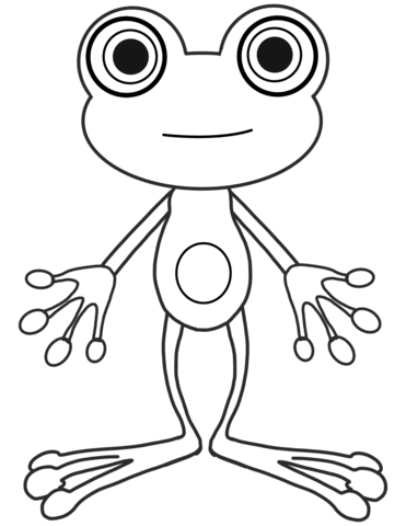 Dibujo De Rana De Dibujos Animados Para Colorear Dibujos Para