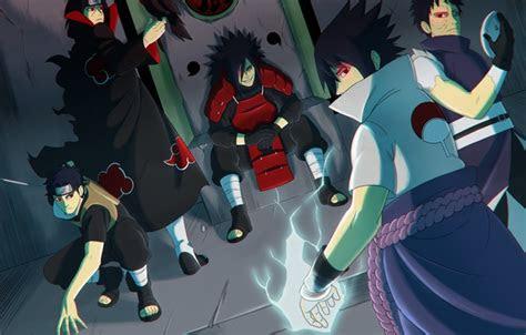 oboi logo game sasuke naruto armor crow anime man