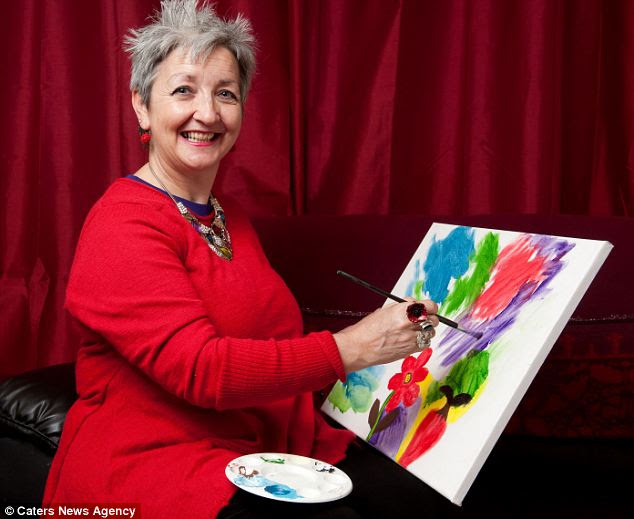 Pauline Quinn was unresponsive for nine months after she suffered a brain haemorrhage. She is now able to paint again