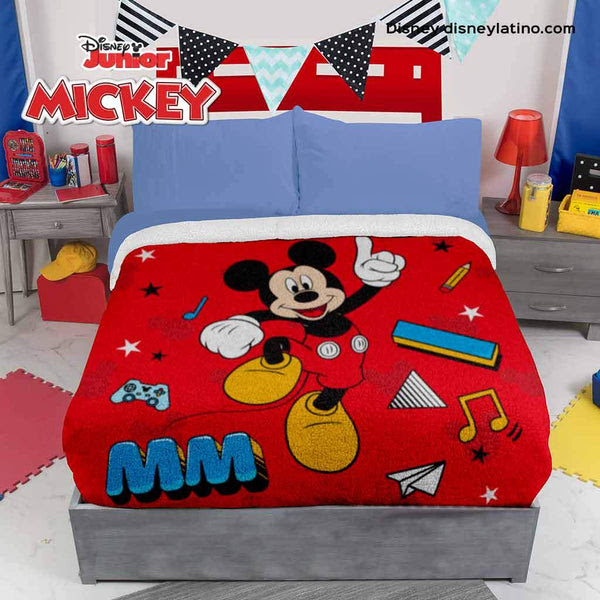 Disney Mickey Mouse Blanket With Sherpa Intima