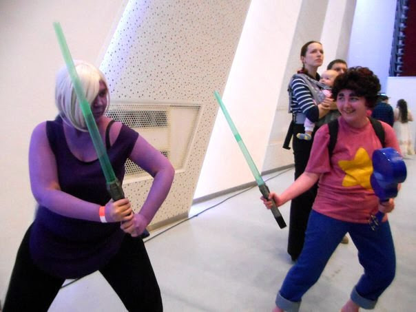 Me and my sis @odinsonanna did the su-cosplay :D Me as Steven and Anna as Amethyst Just for lulz