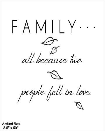 Familyall Because Two People Fell In Love