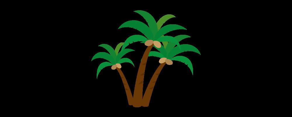 ヤシの木のイラスト 無料配布南国イラスト Ai Epsイラレ素材