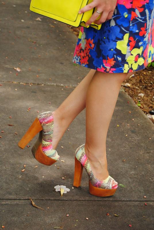 Zigi Soho Pumps_LOFT bright floral skirt