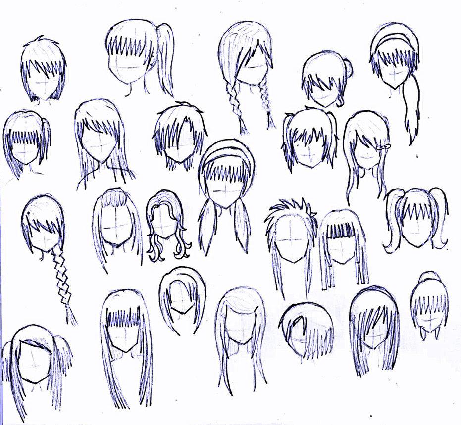 Best Hairstyles Ideas Cute Hairstyles Drawing Girl
