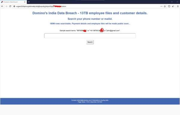 Recently, the biggest data breach of Domino's India is done where data of more than 18 crore orders were leaked.