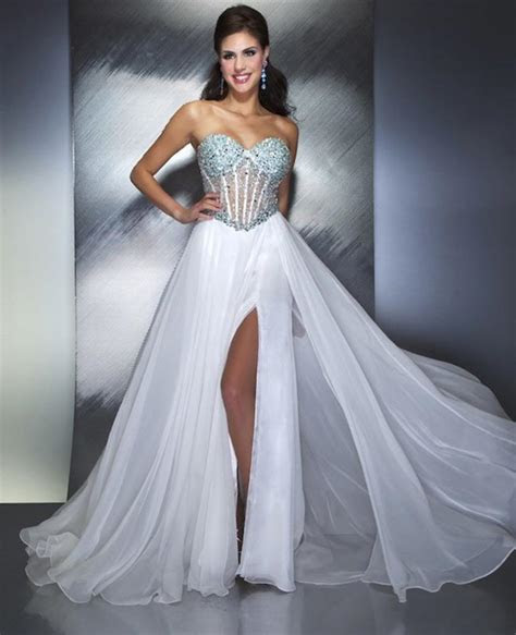 sexy beaded long prom dress ball gown formal evening party