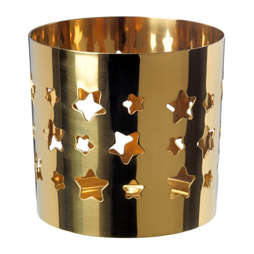 gold candle holder,