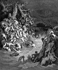 The Deluge, Gustave Doré, 1832-1883. From the ...