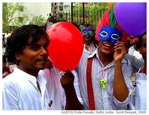 GLBTIQ pride parade, Delhi, India - images by Sunil Deepak, 2009