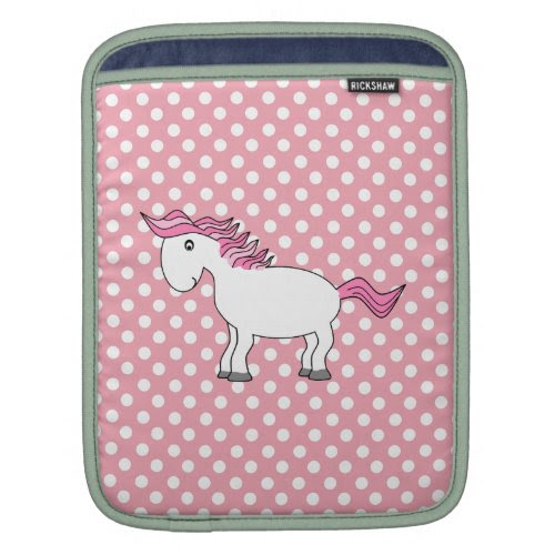Personalized name horse iPad sleeve