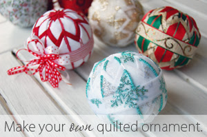 Make your own quilted ornaments.