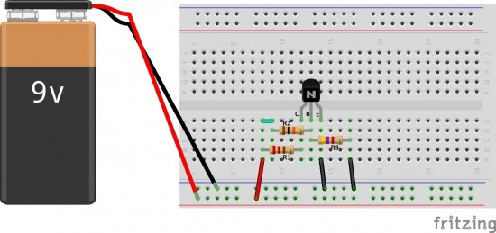 simple breadboard connection