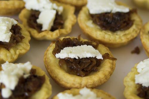 Caramelised onion tartlets