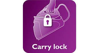 Fixați fierul în siguranță și transportați aparatul cu ușurință
