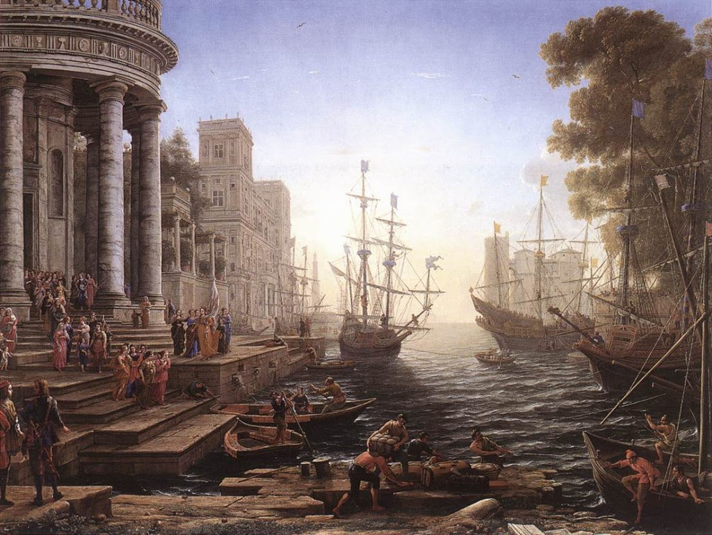 Port-Scene-with-the-Embarkation-of-St-Ursula