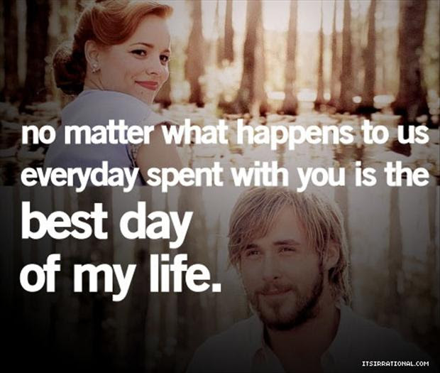 no matter what happens to us, a day with you is the best