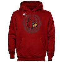adidas Louisville Cardinals Training Helmet Pullover Hoodie - Red