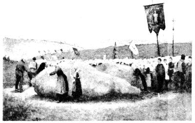 Stone-worship at Locronan, Brittany
