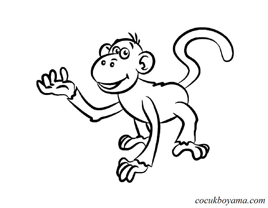 Maymun 33 ücretsiz Boyama Resimleri