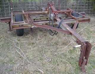 Corner View of 9 Point Chisel Plow