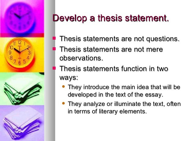 how to make a thesis statement for a critical essay